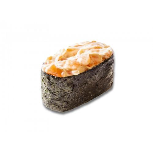 Острые суши лосось